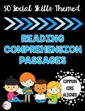 50 Social Skills-themed Comprehension Stories - Inferencing/Predicting, HFA
