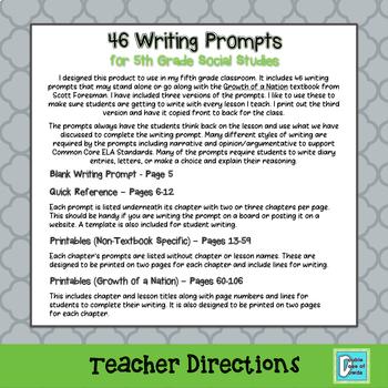 5th grade essay prompts