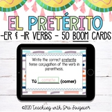Spanish Preterite Tense Er and Ir Verbs BOOM Cards - Distance Learning