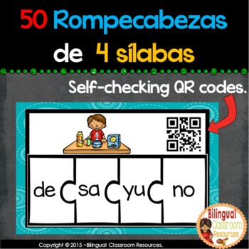 50 Spanish Four-Syllable Puzzles