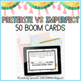Spanish Preterite and Imperfect Task Cards - Distance Learning