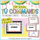 Spanish Informal Tu Command BOOM Cards - Distance Learning