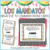 50 Spanish Regular Negative Informal Tu Command BOOM Cards - Distance Learning