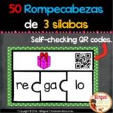 Spanish Three-Syllable Puzzles. Rompecabezas de palabras de tres sílabas