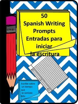 50 Spanish Writing Prompts