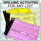 50 Spelling Activities for any Spelling Words