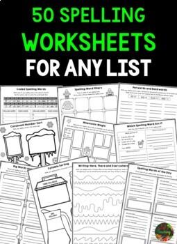 Spelling Word Work Activities and Spelling Activities