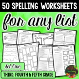 Spelling Word Work and Spelling Activities for Any List of Words