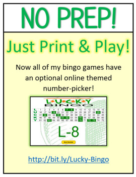 50 St. Patrick's Day Lucky Bingo Cards