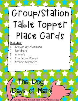 50 Stars Group Station Table Topper and Labels