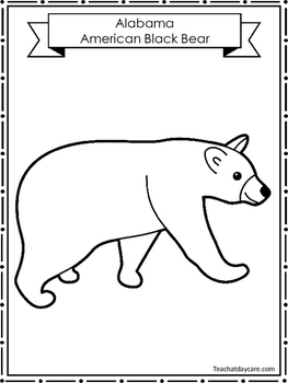 50 State Animal Color Worksheets Geography Curriculum.