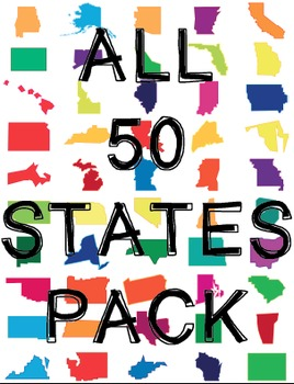 50 State Bundle! {+ Free 50 State Posters!}