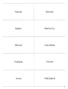 50 State Capitals Flashcard Set