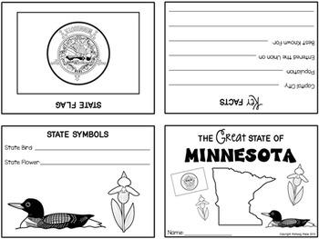 50 States Folded Mini Books