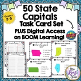 State Capitals Task Cards PLUS Digital Task Cards via Boom