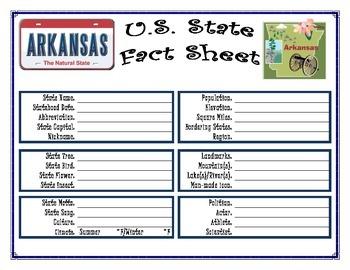 50 State Fact Sheet