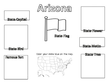 50 State Fact Worksheets