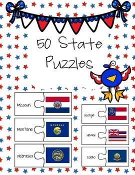 50 State Flag Puzzles