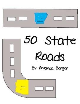 50 State Map Roads