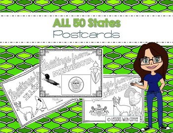 50 State Post Cards - For Classroom Post Card Exchange Programs