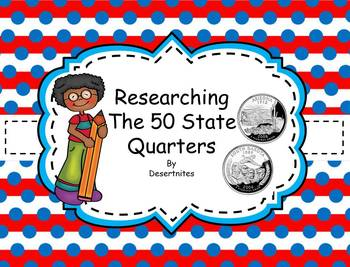 50 State Quarter Research Book and Map