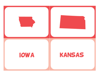 50 State Shapes & Abbreviations Flashcards
