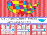 50 State Symbols themed Learning Games Download. ZIP file.