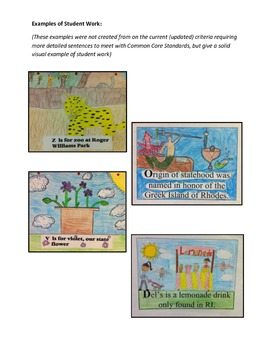 50 States A-Z Book Project and Worksheets