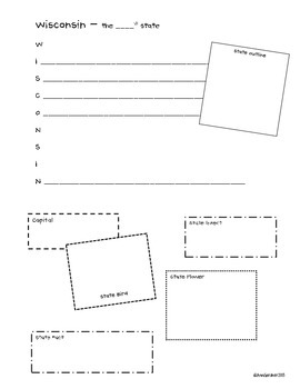 50 States Acrostic Poem Outline/Research Collection Template - Awesome!