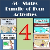 50 States Activities Bundle - Four Different Activities