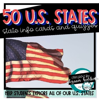 50 States Activity Sheets and Quizzes