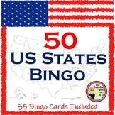 United States Bingo -Know the 50 States-Group Activity w/ 35 Bingo Cards!