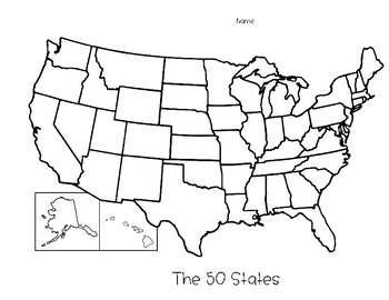 50 States - Map Collection +  3 Map Styles - Great for Tests and Review