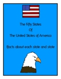 50 States Book with pictures and facts