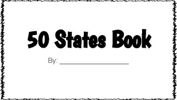 50 States Booklet