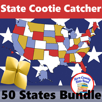 50 States Bundle: Facts, Symbols, and Capitals Distance Learning Printables