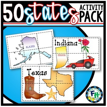 50 States Pack (Games, Activities, & Puzzles)**Bundle**