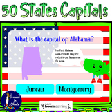 50 States Capitals BOOM Cards Distance Learning