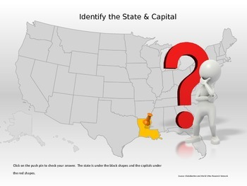50 States & Capitals Interactive Power Point