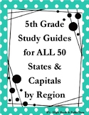 50 States & Capitals Study Guide & Google Quizzes