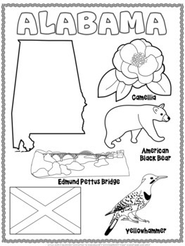50 States Coloring Sheets