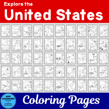 United States Coloring Pages By Ann Fausnight Tpt