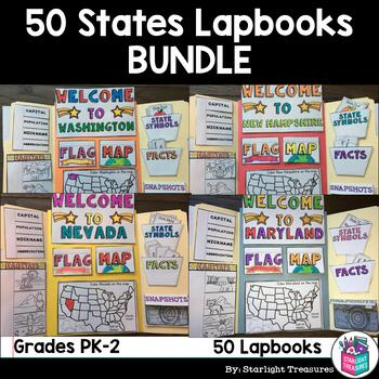 50 States Complete Lapbook Bundle for Early Learners