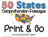 50 States Comprehension Passages {Print & Go}