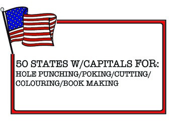 50 State Shapes for Cutting, Coloring & Poking Out