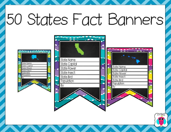 50 States Fact Banners