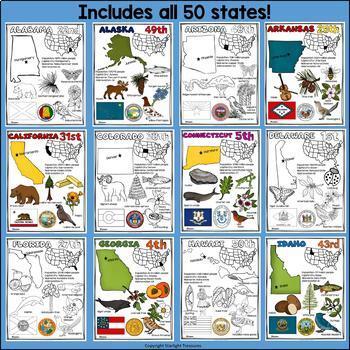 50 States Fact Sheets Bundle