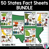 50 States Fact Sheets Bundle for Early Readers
