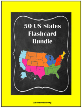 50 States Flashcard Bundle