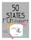 50 States Fun Packet - Super Fun!